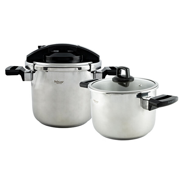 Picture of Hisar Neptune Pressure Cooker Pot Set 4+7 Black