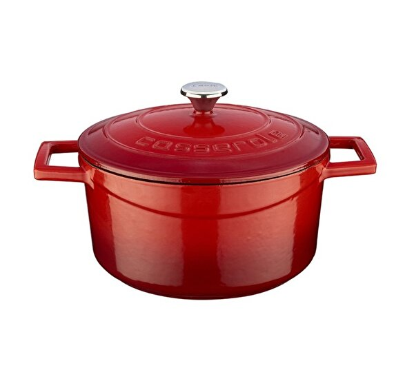 Picture of  Lava Cast Iron Casserole 22 cm Red Round Pot with Lid