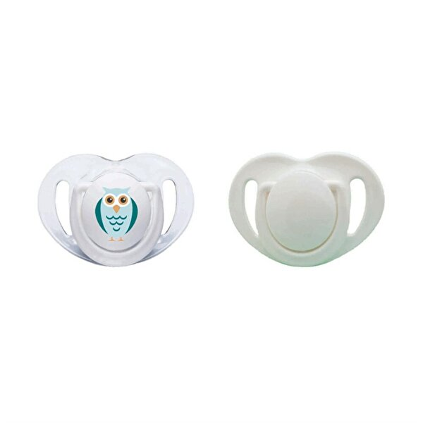 Picture of MAMAJOO 2 x ORTHODONTIC SILICONE Teat  6+ months (WHITE / OWL)