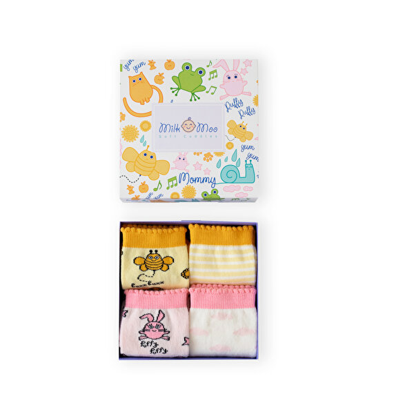 Picture of Milk&Moo Buzzy Bee and Chanchin Set of 4 pairs of Socks for Mothers