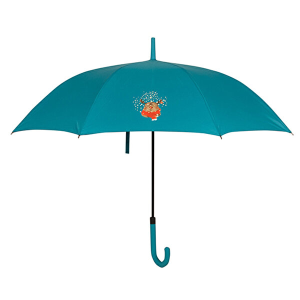 Biggdesign Blue Umbrella With Deer Pattern
