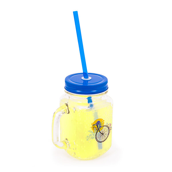 Biggdesign Nature Lemonade Glass with Handle Blue