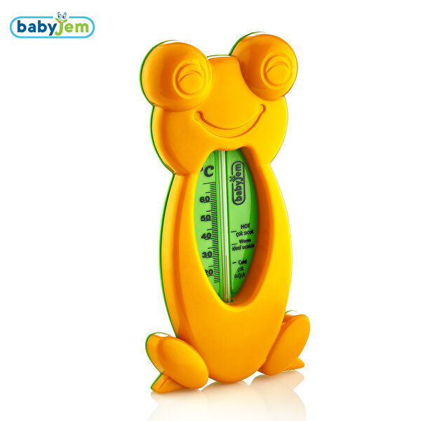 Picture of Babyjem Frog Bath & Room Thermometer Orange