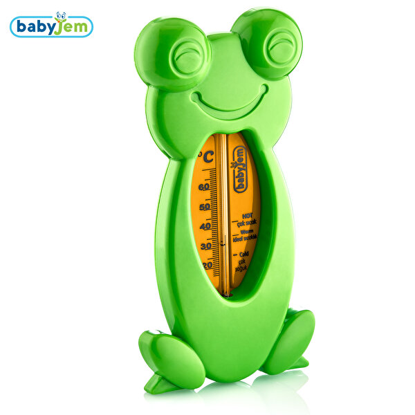 Picture of Babyjem Frog Bath & Room Thermometer Green