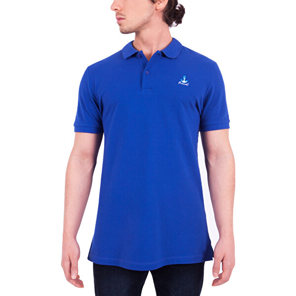 Picture of  Biggdesign Anemoss Sailing Blue Men's Polo Collar T-Shirt