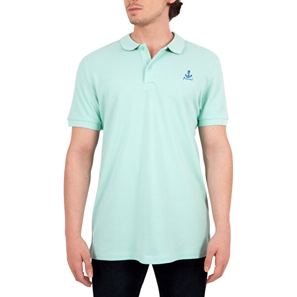 Picture of  Biggdesign Anemoss Sailing Green Men's Polo Collar T-Shirt