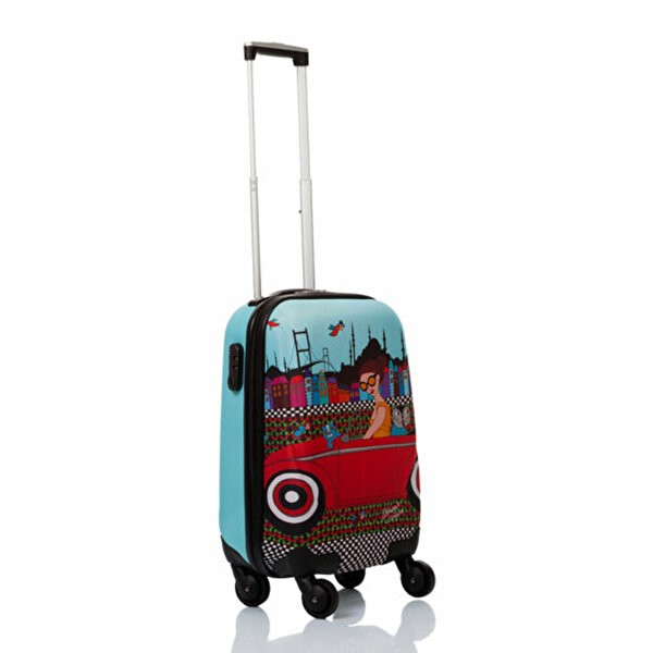 "Picture of BiggDesign BGDT0922D05 Canvas Luggage 18 ""Trolley Girl Mehmet Sağbaş"