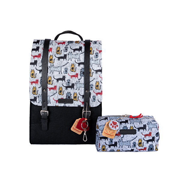 Picture of Biggdesign Cats Felt Backpack an Purse