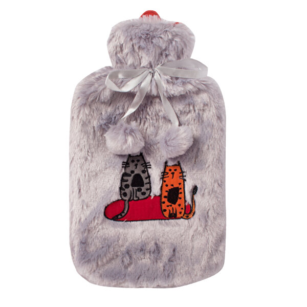 Picture of BiggDesign Cats in Istanbul Gray Plush Hot Water Bag