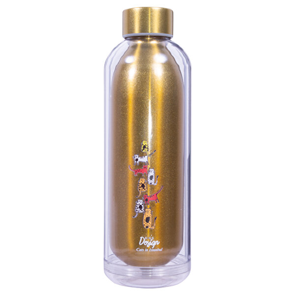Picture of BiggDesign Cats Water Bottle (Yellow)