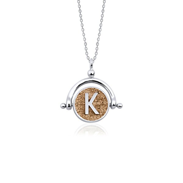 "Picture of  Biggdesign Letter ""K"" Silver Necklace"