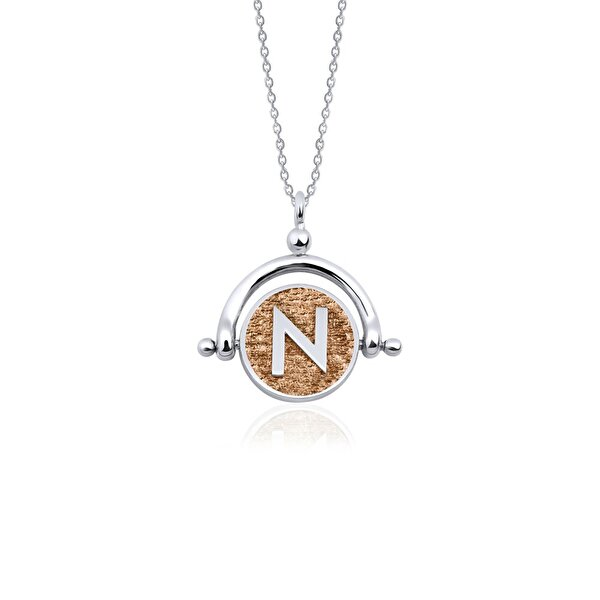 "Picture of  Biggdesign Letter ""N"" Silver Necklace"