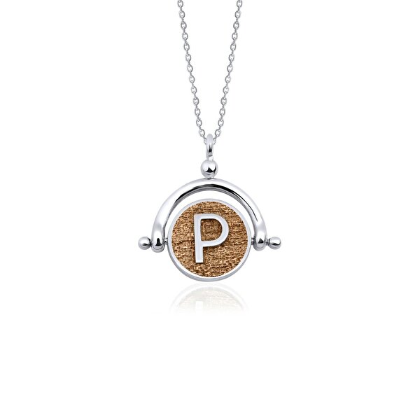 "Picture of  Biggdesign Letter ""P"" Silver Necklace"
