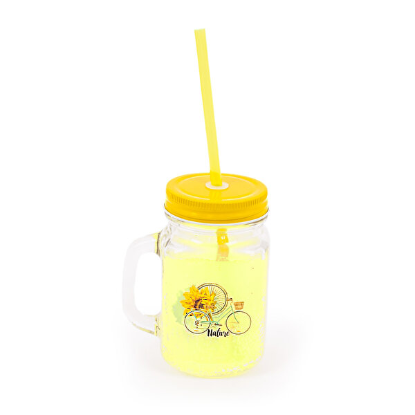Picture of BiggDesign Nature Lemonade Glass with Handle Yellow