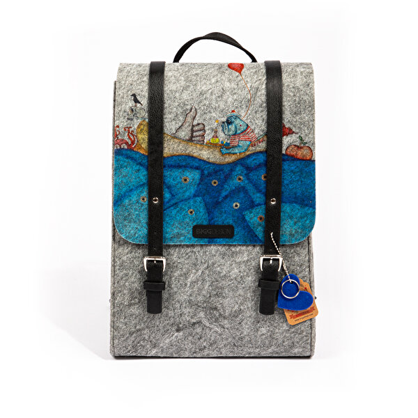 Picture of BiggDesignMr. Allright Felt Backpack