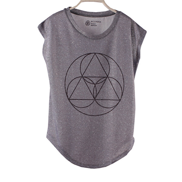 Picture of BiggYoga Namaste Grey Sleeveless T-Shirt - Size - S