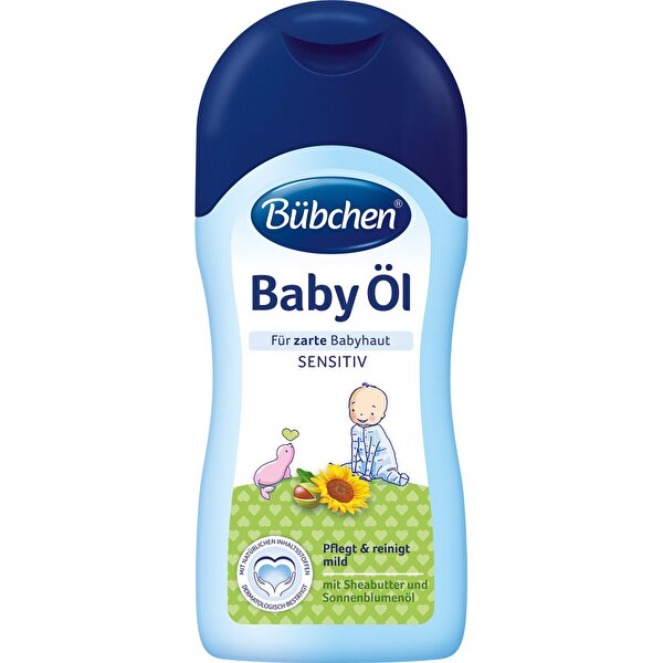 Picture of Bübchen Baby Oil 200 ml for Cleaning and Care