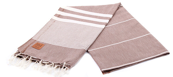 Picture of Gold Case Basic Group 100% Cotton Multi-Purpose Peshtemal Towel - Loincloth- Hera Brown