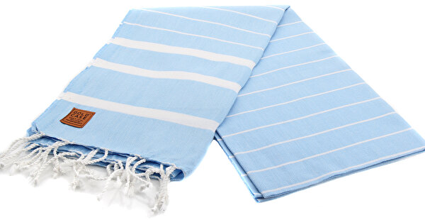 Picture of Gold Case Basic Group 100% Cotton Multi-Purpose Peshtemal Towel - Loincloth - Lara Light Blue