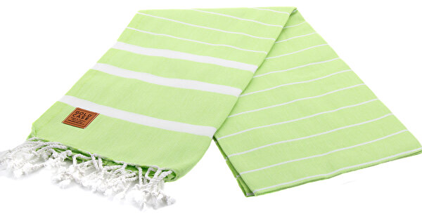 Picture of Gold Case Basic Group 100% Cotton Multi-Purpose Peshtemal Towel - Loincloth - Lara Pistachio Green