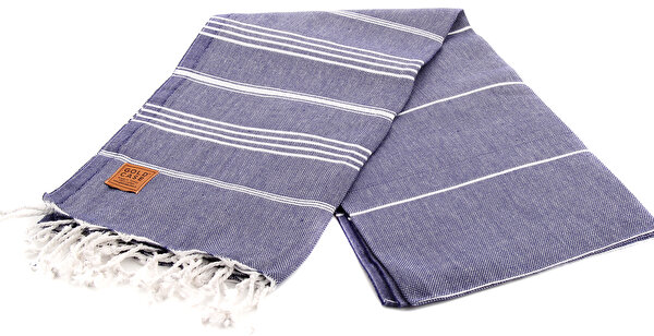 Picture of Gold Case Basic Group 100% Cotton Multi-Purpose Peshtemal Towel - Loincloth - Lycia Navy Blue