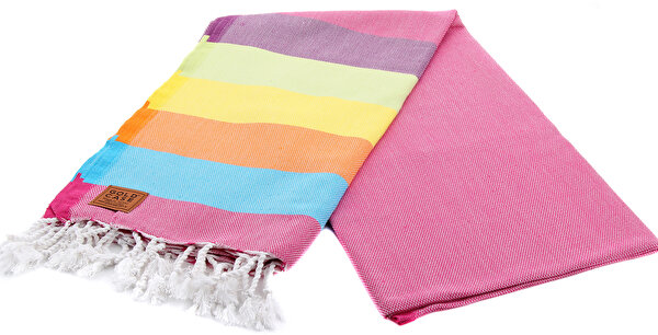 Picture of Gold Case Basic Group 100% Cotton Multi-Purpose Peshtemal Towel - Loincloth - Ares Fuchsia