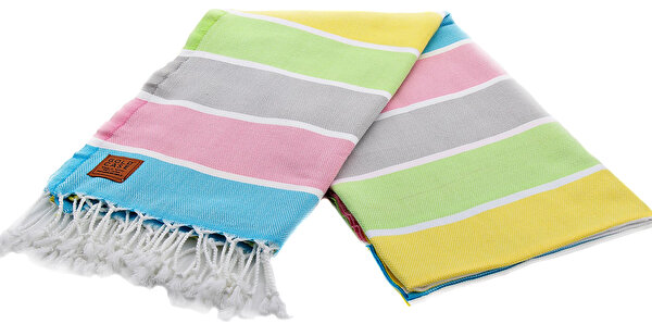 Picture of Gold Case Exclusive Group 100% Cotton Multi-Purpose Peshtemal Towel - Loincloth - Nysa Yellow-Green
