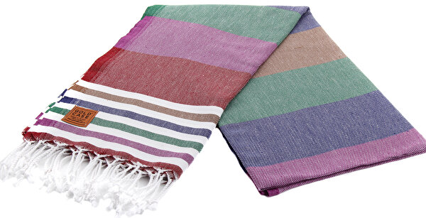 Picture of Gold Case Exclusive Group 100% Cotton Multi-Purpose Peshtemal Towel - Loincloth - Olympos Dark Assortment