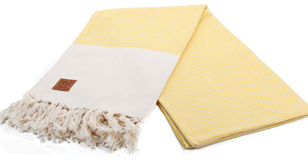 Picture of Gold Case Premium Group 100% Cotton Multi-Purpose Peshtemal Towel - Loincloth - Calypso Yellow