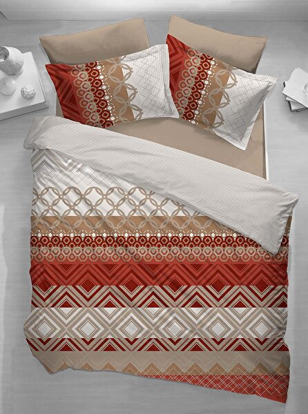Picture of Gold Case Ranforce 100% Cotton Single Size Duvet Set - Betsey Red