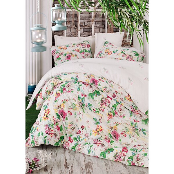 Picture of Gold Case Ranforce 100% Cotton Single Size Duvet Set - Lisha Pink