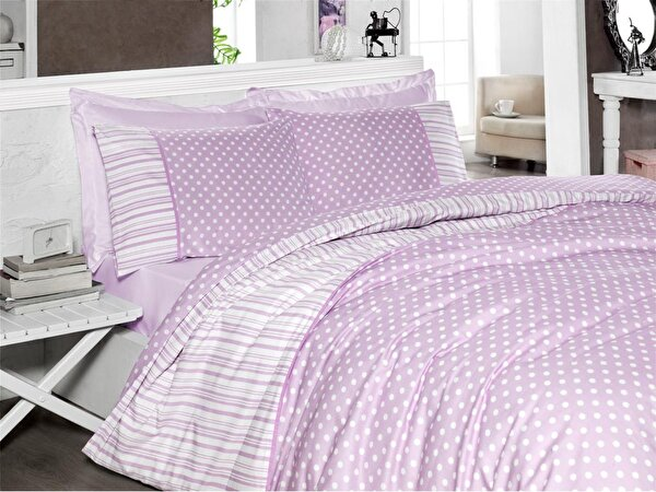 Picture of Gold Case Touch Series Single Size Duvet Set - Point Lilac