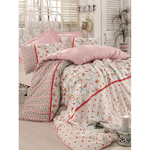 Picture of Mary Case Ranforce 100% Cotton Twin Size Duvet Set - Emma Beige