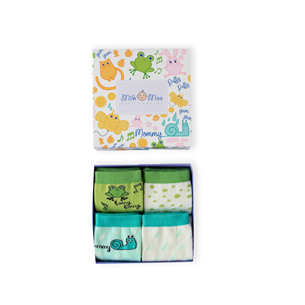 Picture of Milk &Moo Cacha Frog and Sangaloz 4 pairs Mother Socks