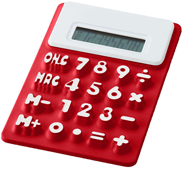 Picture of PF CONCEPT 12345400 Black Silicone Calculator