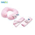 Picture of Babyjem Travel Set, Neck Pillow and Seatbelt Pads, Pink
