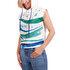 Picture of BiggDesign AnemosS Wave Patterned Women's Sleeveless Sweatshirt with Hood