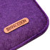 "Picture of BiggDesign ""Love"" Zippered Felt Bag - Purple"