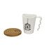 Picture of BiggMug White Porcelain Cup Set