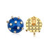 Picture of Tash Design Stars Enamel Clip Single Earring
